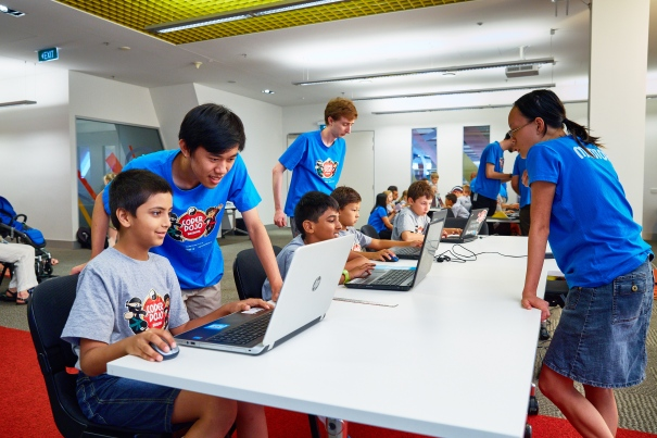 CoderDojo session at Brisbane Square Library